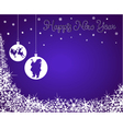 New Year Background with Santa Reindeer vector image vector image