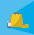 online shopping and marketing vector image vector image