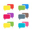 pictograph of message or chat message vector image vector image