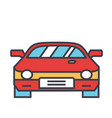 race car racing concept line icon vector image vector image