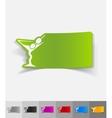 realistic design element cocktail vector image