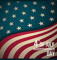 retro banner with american flag vector image