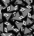 retro geometry seamless pattern in black and white vector image vector image