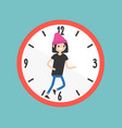 running out of time conceptual deadline flat vector image vector image