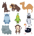 set of different african animals vector image vector image