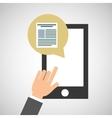 smartphone app file social media icon vector image vector image