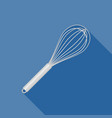 stainless egg whisk icon vector image