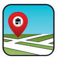 Street map icon with the pointer home vector image vector image