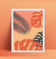 summer vibes minimalistic poster placard design vector image