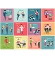 Teachers Day Set the Teaching Profession vector image
