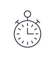 timerstopwatch time management line icon vector image vector image