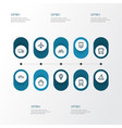 transport outline icons set collection of bogie vector image vector image