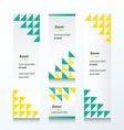 Triangle pattern Green And Yellow color vector image vector image