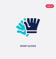 two color sport gloves icon from gym and fitness vector image vector image