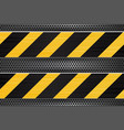 under construction background black yellow vector image