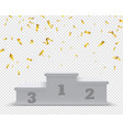 winner podium sport winners pedestal 3d steps vector image