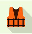 work orange reflective vest icon flat style vector image
