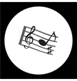 music stave with music notes and treble clef vector image