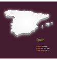 3d map of spain vector image vector image