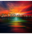 abstract nature background with panorama of vector image vector image
