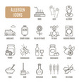 allergen icons set of pictograph