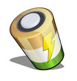 battery in isometric projection isolated on white vector image