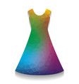 beautiful long dress sign colorful icon vector image
