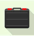 black welder tool bag icon flat style vector image