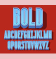 block bold font vector image vector image