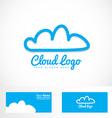 blue cloud hosting logo vector image vector image