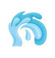 blue stormy curling ocean or sea wave design vector image vector image