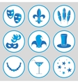 carnival icon set vector image vector image