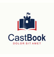 castle fortress book logo design template tower vector image vector image