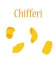 Chifferi pasta vector image vector image