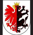 coat of arms of kuyavian-pomeranian voivodeship vector image vector image