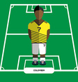 Computer game Colombia Football club player vector image vector image
