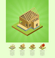 construction stages of countryside house vector image