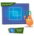 Count the squares vector image vector image