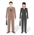 couple of business asian man and woman business vector image vector image