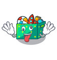 crazy children toy boxes isolated on mascot vector image