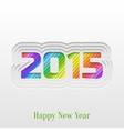 Creative 2015 Happy New Year Greeting Card vector image vector image