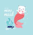 cute mermaid vector image vector image