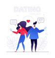dating online - modern colorful flat design style vector image vector image
