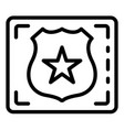 detect police emblem icon outline style vector image
