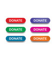 donate button set vector image vector image