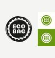 eco bag logotype isolated on background vector image vector image
