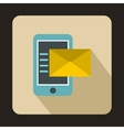 Envelope and smartphone icon flat style vector image