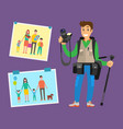 example cameraman content family pictures parents vector image vector image