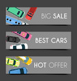 exclusive car care set of banners vector image vector image