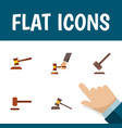 Flat icon lawyer set of crime court tribunal and vector image